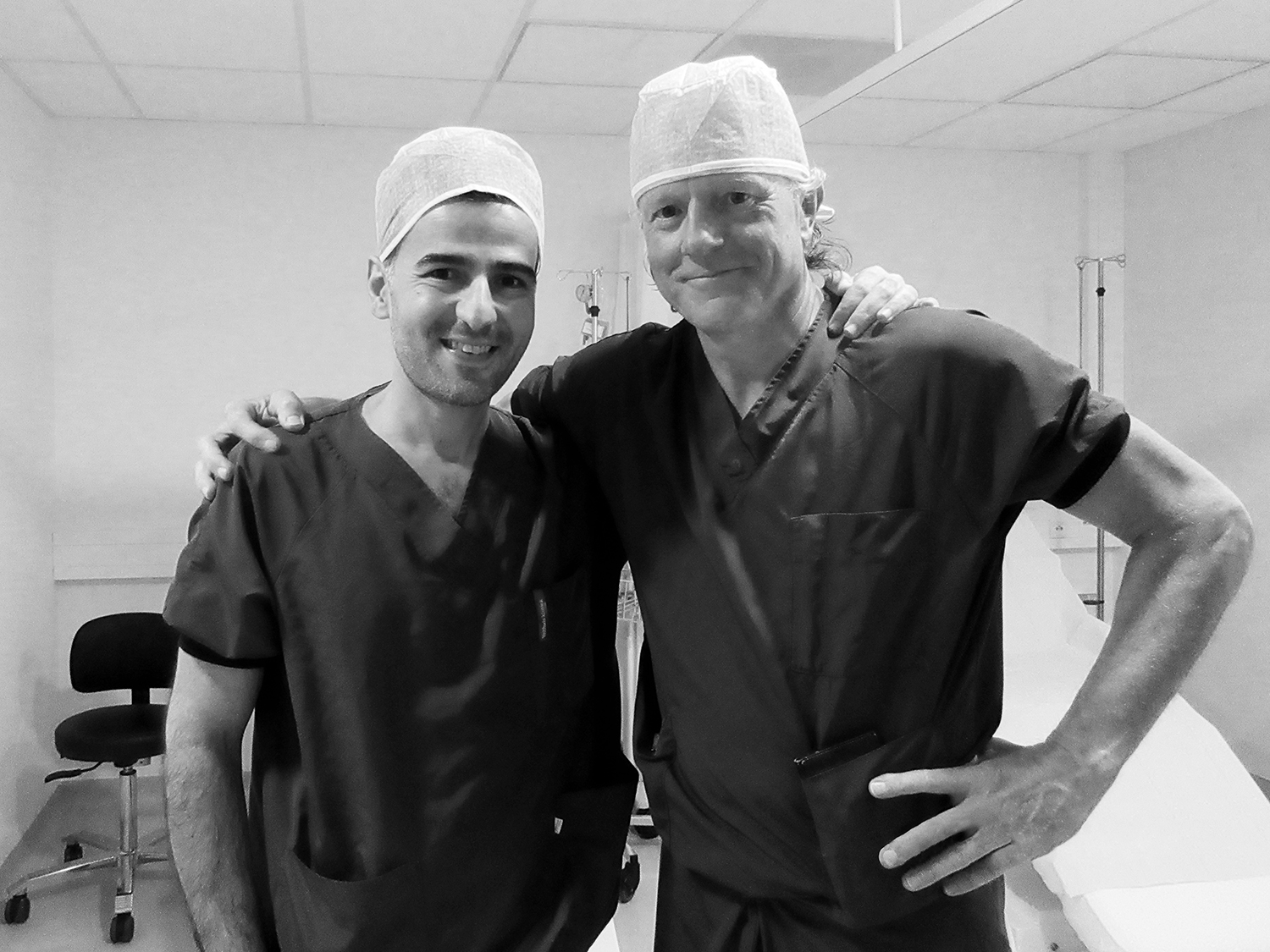 with the masters, Dr Jeroen Stevens